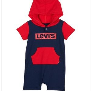 LEVI'S Baby Boy Logo Hooded Coverall